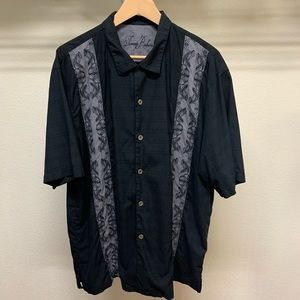 Tommy Bahama Button Down Shirt Mens XL Embroidered